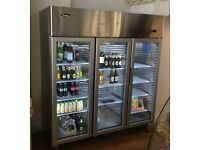 Atosa YCF 9403 - 3 door glass display fridge - 1 year old