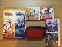 Nintendo 3DS XL Bundle - Circle Pad Pro, Games: Pokemon Sun and Ruby, Zelda, Monster Hunter