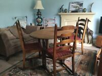 Retro/Vintage Ercol Dining Room Table and Four Traditional Chairs