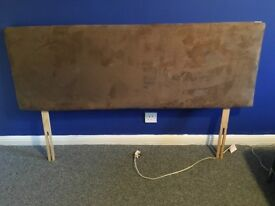 Brown suede king size 5ft headboard