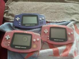 Gameboy advance consoles and games