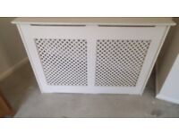 radiator cover painted MDF good condition