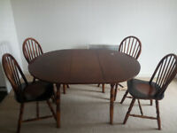 Dining Table and 4 Chairs for sales