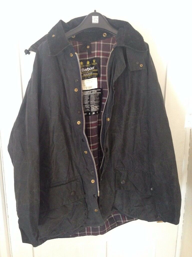 Barbour Beaufort Outdoor Jacket, size C42/107cm Blue