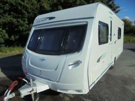2011 Lunar Lexon 540 4 Berth Caravan For Sale. End Washroom. Fixed Double Bed