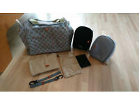 Pacapod Napier nappy / changing bag in Mocha colour, great condition, all accessories included