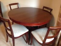 Mahogany Marks & Spencer's Dining Table, 4 Chairs and 2 Carvers, Sideboard, Bookcase and Drawers