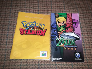 For sale Nintendo 64 manuals  both for 15 dollars firm.