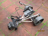 Stowamatic golf trolley for spares or repair includes 18 hole battery