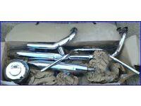 Motor bike Yamaha dragstar exhaust XVS 650