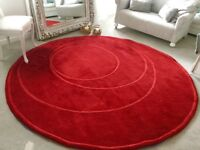 Excellent condition rich large red wool rug/carpet ikea