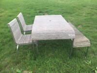 John Lewis garden team furniture set. Bench, chairs and table