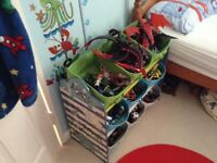 Toy storage with dinosaur theme
