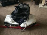 Figure Skates Size 6, bag and blade covers