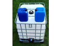20L & 1000L IBC cubes, water containers, plastic drums, liquid tanks for sale