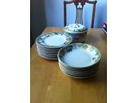 Wedgwood Eden tableware: two sets of 9 plates and a casserole dish