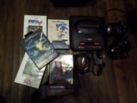 Sega Megadrive with 5 games and AV cable - connect to modern TV
