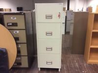 Phoenix 2244 Fire Proof Four Drawer Filing Cabinet & Key