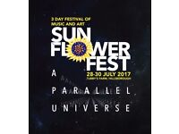Sunflower festival weekend ticket 2017