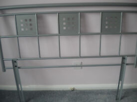 DOUBLE HEADBOARD METAL NEW (GREY IN COLOUR)