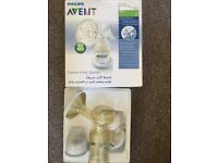 AVENT breast milk pump and Medela storage items