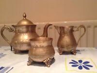 Full set of teapot, sugar bowl and milk jug