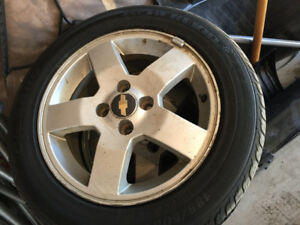 2 like new tires and rims
