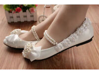 Wedding flats size 6/ small 7