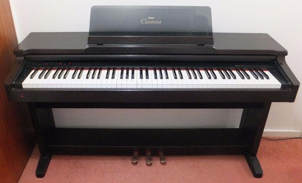 yamaha clavinova digital piano electric piano clp124 feels like a real piano but needs no. Black Bedroom Furniture Sets. Home Design Ideas