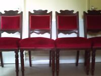 SET OF 4 EDWARDIAN DINNING CHAIRS