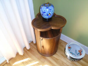 antique liquor cabinet/end table