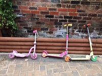 3 x Kids scooters