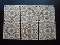 6 Genuine Antique Tiles