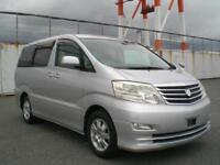 TOYOTA ALPHARD, 2007, 2.4 LITRE, PETROL, 56,734 MILES IN SILVER
