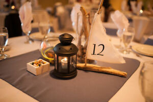 Driftwood Sailboat Wedding Table Numbers Centrepieces
