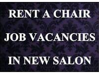 Hairdressing chair to rent in brand new salon