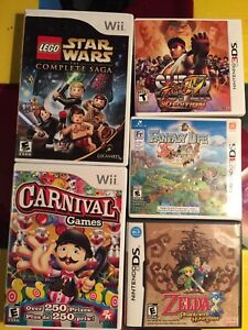 Wii DS 3DS games prices in description