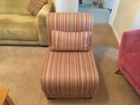 Sofa and two chairs plus foot stool