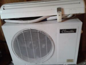 Air climatise murale avec thermopompe climette