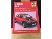Ford KA service & repair Manual