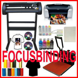 "15x15 Heat Press,24"" 500g Metal Vinyl Cutter,Printer CISS Ink"