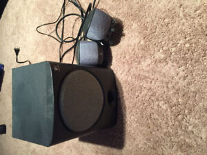 Logitech Surround Sound Subwoofer and 2 Speakers -$20