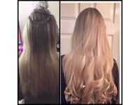 Nano rings/Russian Hair Extensions/Flat Tapes/Mobile hair stylist at the comfort of your own home