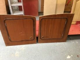 2 x Marine Cabinet / Locker Doors with Latches 20 in x 20 in