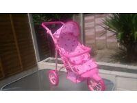 Doll Pushchair - design butterfly