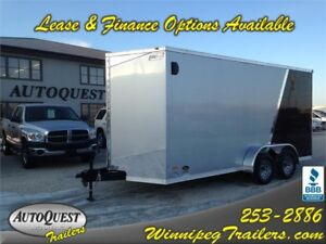 "RC 7' x 16' + V-Nose x 84"" Enclosed Cargo Trailer-7000K"