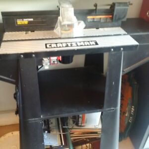Craftsman Professional Router and Table with bits