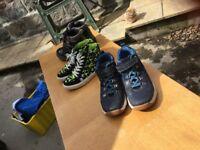 Boys clarks shoes sz 1 around f &g