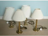 Lot of 4 Table Lamps as in Picture