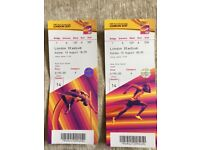 IAAF World M - 2x Cat A tickets SUNDAY -FACE VALUE